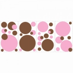 Decorative sticker - Brown & Pink Dots