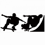 Decorative sticker - Chalkboard Skaters